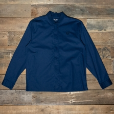 Fred Perry M7563 Bomber Collar Zip Thru Shirt 266 Carbon Blue