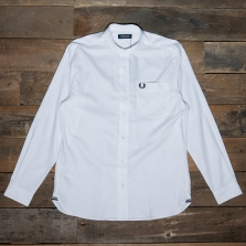 Fred Perry M7559 Grandad Collar Shirt 100 White