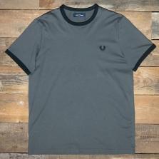 Fred Perry M3519 Ringer T Shirt G85 Gunmetal