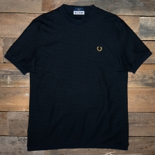 Fred Perry Sm7012 Miles Kane Turtleneck Pique Shirt 102 Black