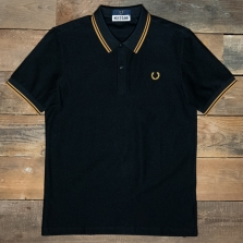 Fred Perry Sm7013 Miles Kane Textured Pique Shirt 102 Black