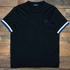 Fred Perry M7539 Bold Tipped T Shirt 102 Black