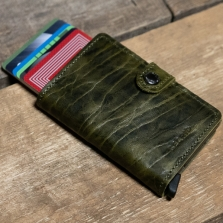 SECRID Miniwallet Dutch Martin Leather Olive