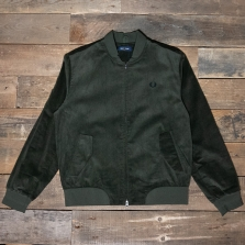 Fred Perry J7535 Cord Bomber Jacket 408 Hunting Green