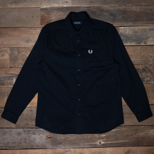 Fred Perry M7591 Brushed Cotton Shirt 102 Black