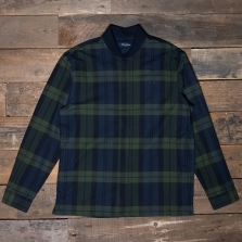 Fred Perry M7596 Tartan Zip Through Shirt 608 Navy