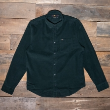 LEE Lee Button Down Cord Shirt Dark Bottle Green