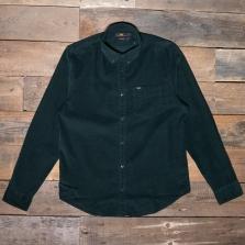 LEE Lee Button Down Cord Shirt Dark Bottle Green