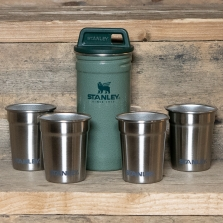 STANLEY Adventure Stainless Steel Shot Glass Set Hammertone Green