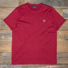 Fred Perry M3519 Ringer T Shirt 850 Rosso