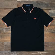 Fred Perry M102 Made In Japan Pique Shirt 756 Black