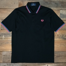 Fred Perry M102 Made In Japan Pique Shirt 253 Black