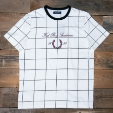 Fred Perry M8526 Archive Embroidered T Shirt 129 Snow White