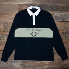 Fred Perry M8595 Embroidered Panel Shirt 608 Navy