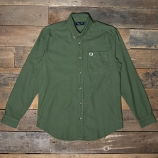 Fred Perry M8589 Overdyed Shirt B57 Military Green