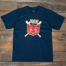 EBBETS FIELD FLANNELS Kansas City Katz 1961 T Shirt Navy