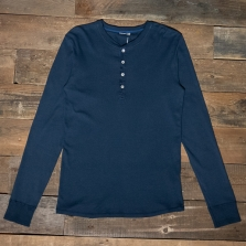 SCHIESSER REVIVAL Karl-heinz Long Sleeve Henley Dark Blue