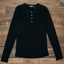 SCHIESSER REVIVAL Karl-heinz Long Sleeve Henley Black
