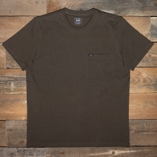 LEE Ss Pocket Tee L64psw Turkish Coffee