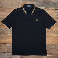 Fred Perry M102 Made In Japan Pique Shirt B80 Black
