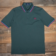 Fred Perry M102 Made In Japan Pique Shirt C02 Bottlegreen