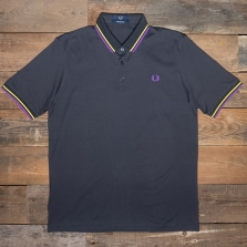 Fred Perry M102 Made In Japan Pique Shirt 297 Anchor Grey