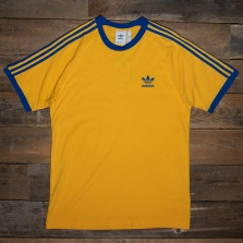 adidas Originals Ge6233 3 Stripes Tee Gold Royal