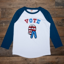 TSPTR Vote Baseball Tee White Navy