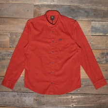 LEE Lee Button Down Cord Shirt L880mr Red Ochre