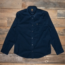 LEE Lee Button Down Cord Shirt L880mr Sky Captain