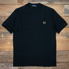 Fred Perry M8524 Pique T Shirt 184 Black