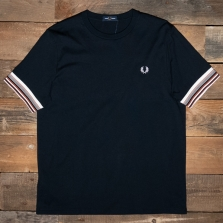 Fred Perry M9651 Bold Cuff T Shirt 608 Navy