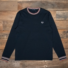 Fred Perry M9655 Striped Trim T Shirt 608 Navy