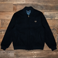 Fred Perry J9554 Melton Bomber Jacket 608 Navy
