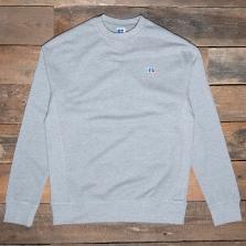 RUSSELL ATHLETIC E16011 Frank2 Logo Sweatshirt Vk 091 New Grey Marl