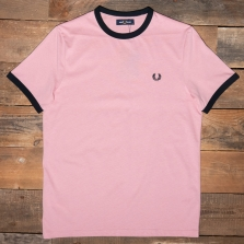 Fred Perry M3519 Ringer T Shirt J10 Chalky Pink