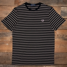 Fred Perry M1608 Fine Stripe T Shirt 408 Hunting Green