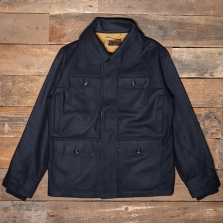 THE QUARTERMASTER 40s2 Hunter Jacket Calvana Blue