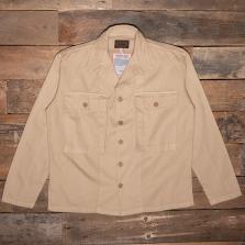 THE QUARTERMASTER 40rc Fatigue Jacket Herringbone Tweed Khaki