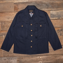 THE QUARTERMASTER 40rc Fatigue Jacket Herringbone Tweed Blue