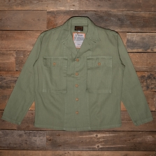 THE QUARTERMASTER 40rc Fatigue Jacket Herringbone Tweed Green