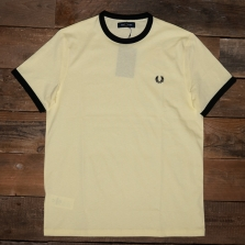 Fred Perry M3519 Ringer T Shirt G03 Lemon Sorbet