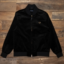 Fred Perry J1538 Velvet Bomber Jacket 102 Black
