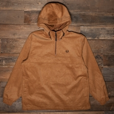 Fred Perry J1539 Cord Overhead Jacket 179 Brown Sugar