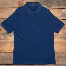 Fred Perry M1813 Mesh Pique Polo Shirt 143 French Navy