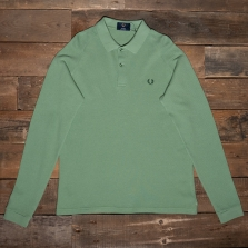 Fred Perry M1814 Long Sleeve Mesh Pique Shirt E36 Pistachio