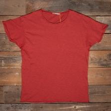 NUDIE 131484 Roger Slub T Shirt R35 Poppy Red