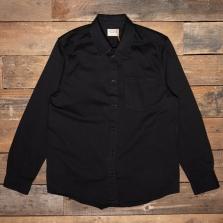 NUDIE 140680 Chet Pigment Dye Shirt B01 Black