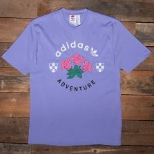 adidas Originals Gn2375 Adv Flowers Tee Light Purple