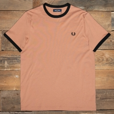 Fred Perry M3519 Ringer T Shirt M39 Sepia